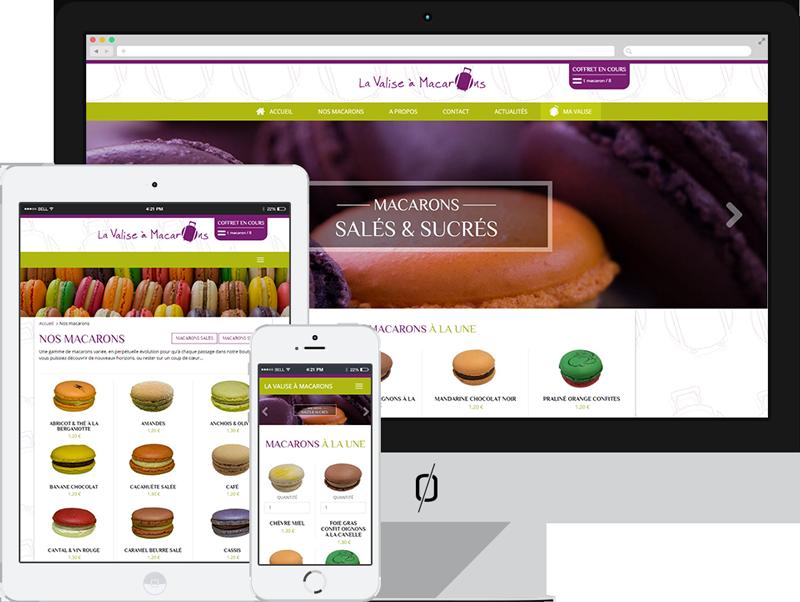 Creation site ecommerce sur mesure La Valise à Macarons