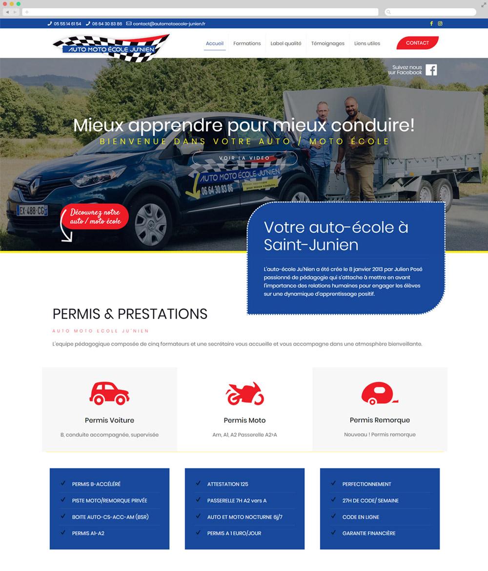 Création Site vitrine Auto Ecole Saint Ju