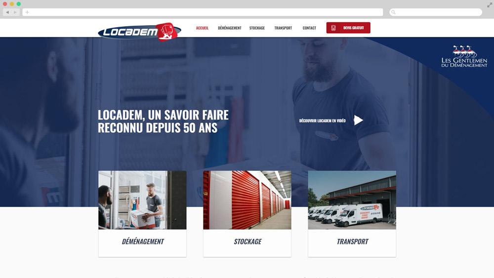 Création site internet Locadem déménagement Limoges